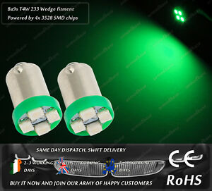 LED-SMD-233-T4W-BA9S-Cap-Bayonet-Green-Side-Light-Parking-Interior-Dome-Bulbs