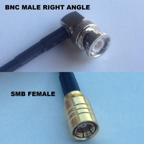 RG316 BNC MALE ANGLE to SMB FEMALE Coaxial RF Cable USA-US