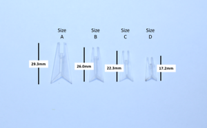 Jigging Minnow Plastic Tail Fins qty 50 4-sizes Ice Fishing Jigs Jig lure bait