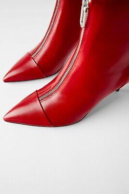 Femmes Neuf Noir Cheville Fermeture Éclair Talon Pointu Bottes Chaussures RRP £ 30 Taille UK 4 5 6 7 8