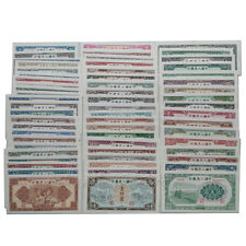 62 Pieces Collection China First Edition Banknotes Paper Money UNC Uncirculated