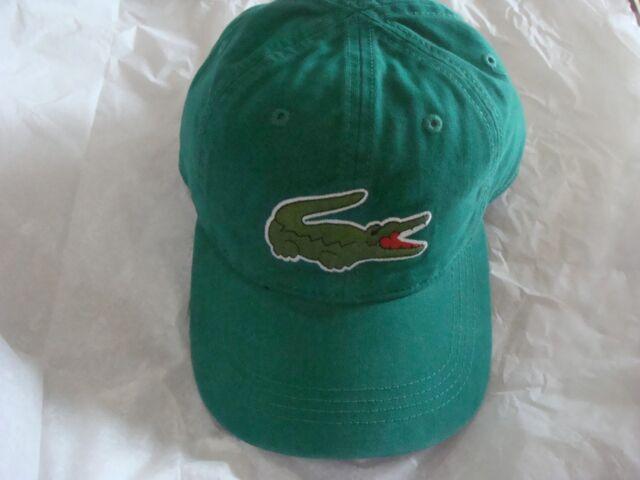 aba2625f7a8 Men s Lacoste Big Croc Gabardine Cap Dadhats Hat RK8217 51 Y62 One Size