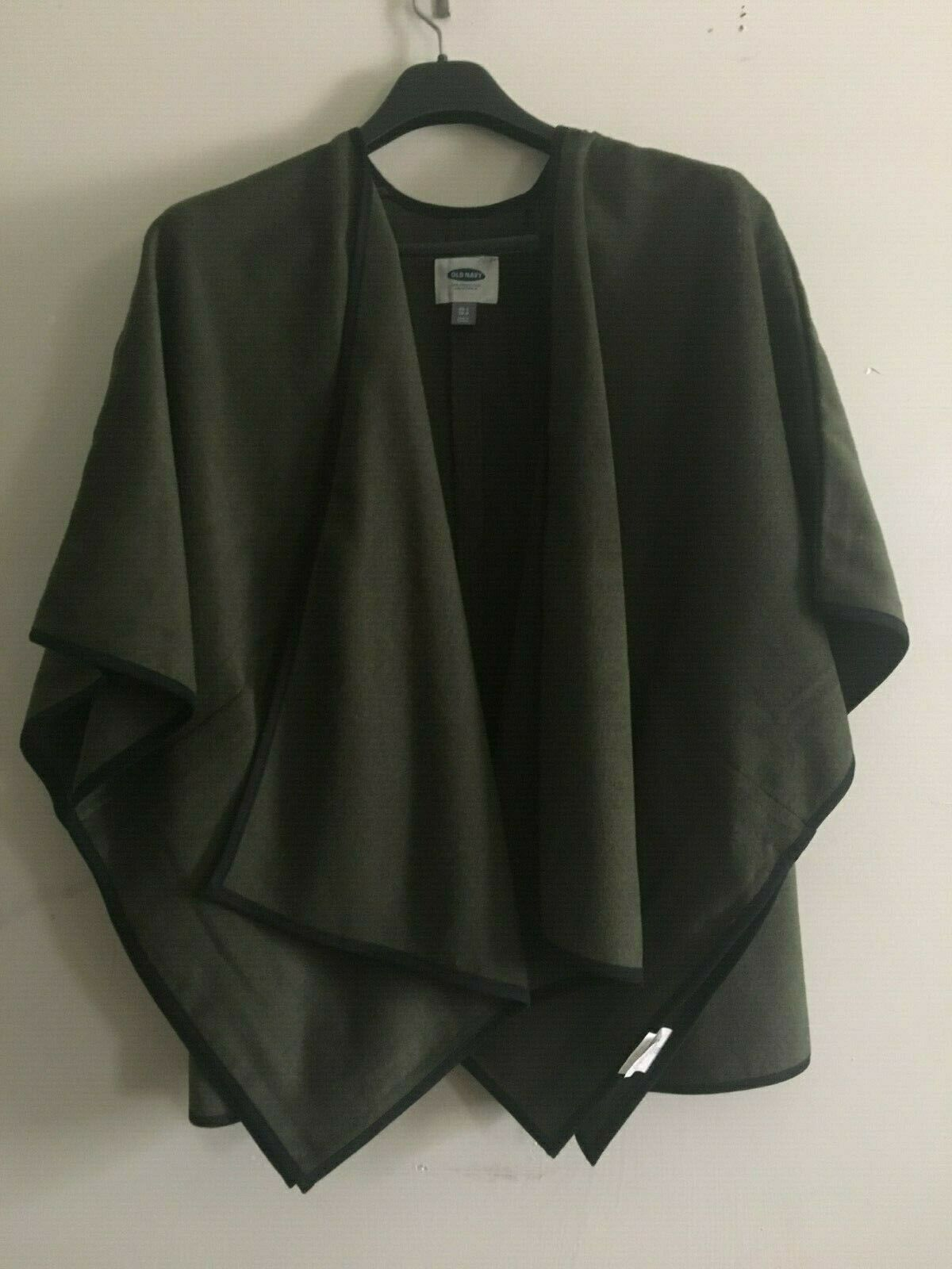 Old Navy San Francisco Cape Flap Olive Cardigan Size XS-S TP-P Sweater Women