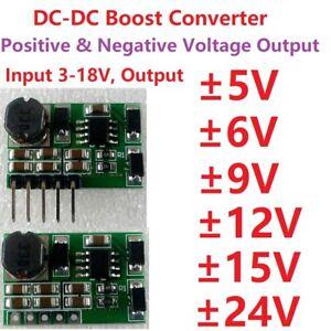 Details about +-5V 6V 9V 12V 15V 24V Positive & Negative Dual DC DC Step-up  Boost Converter