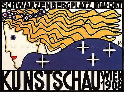EXHIBITION CULTURAL ART VIENNA AUSTRIA VINTAGE RETRO ADVERTISING POSTER 1721PYLV
