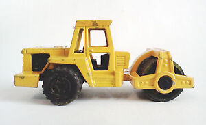 MAJORETTE-226-YELLOW-ROAD-ROLLER-Construction-Vehicles-Die-Cast-Metal
