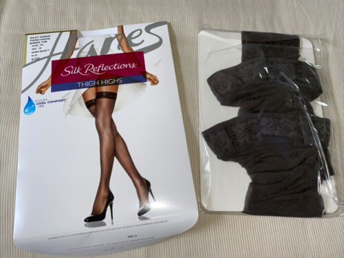 Women's Hanes Silk Reflections Barely Black Sheer