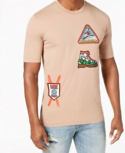 LOVE-MOSCHINO-MEN-039-S-SKI-PATCH-T-SHIRT-UK-SIZE-XL