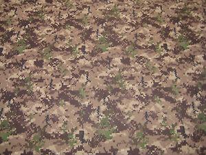 T-Shirt-Fabric-Moisture-Wicking-Woodland-Brown-Green-Digital-Camo-59-034-W-By-Yd