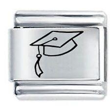 GRADUATION CAP - Daisy Charms by JSC Fits Classic Size Italian Charm Bracelet