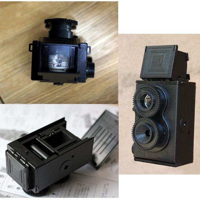 Fashion Black DIY Twin Lens Reflex Lomo Film Camera Kit Classic Play Toy