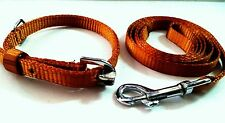 "Heavy Export Quality Glowing puppy dog belt + leash set in 0.5"" Strong Fabric"
