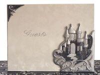 Quinceanera Sweet 15 16 Birthday Fairytale Platinum Castle Guest Book Pen Set
