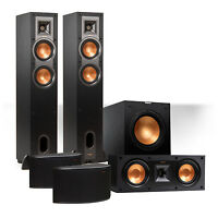 Klipsch Reference 5.1 Channel R-24f Surround Speaker Bundle W/ 12 Sub (black) on sale