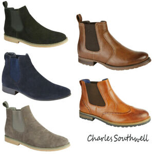 England Mens Pull On Casual Ankle Boots Shoes Desert New CHELSEA BOOT ALL US Sz