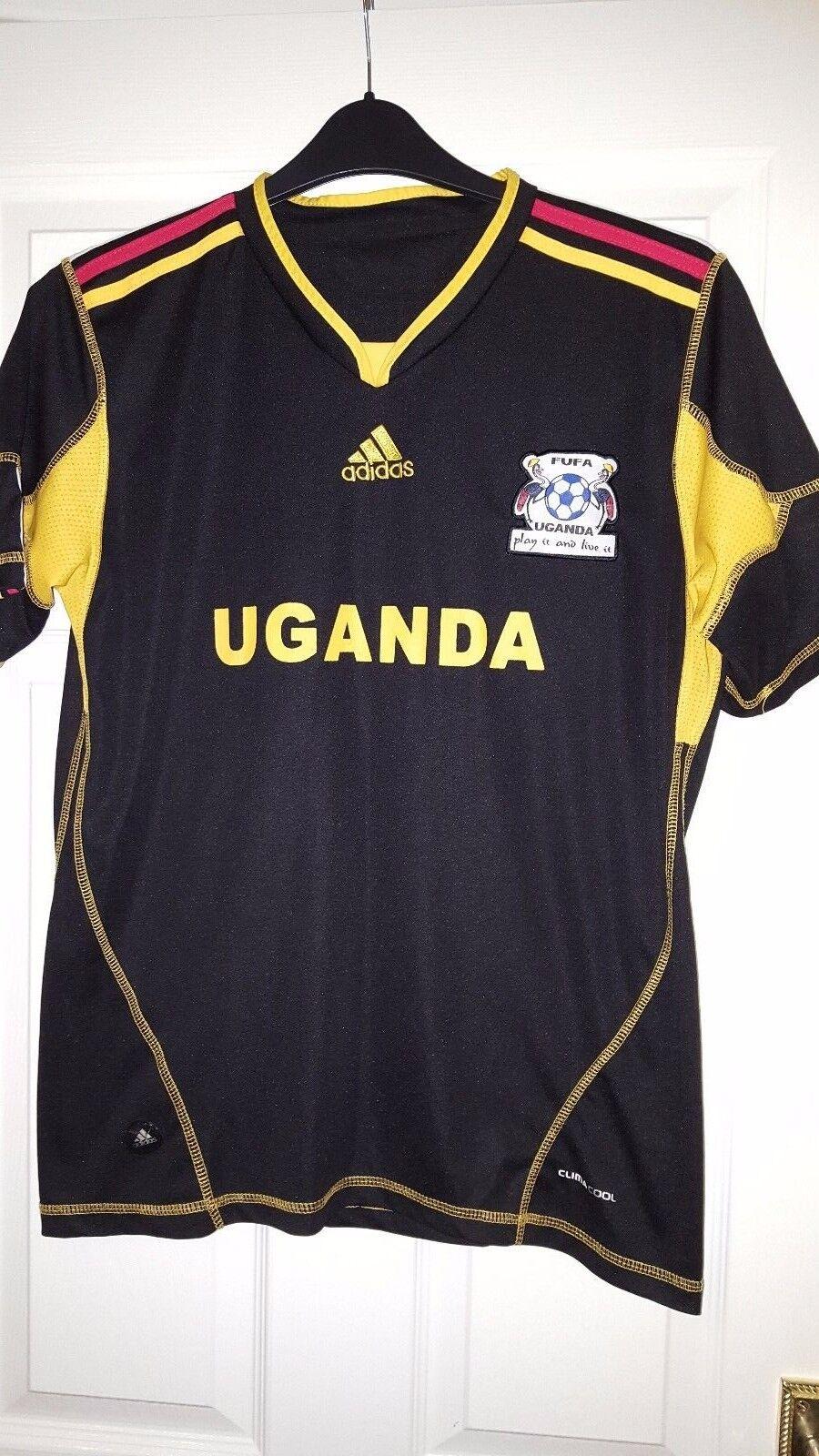 Para Hombres Camisa De Fútbol-Uganda-meta Keeper 2012-2013 - Adidas-Negro  (África)  suministro de productos de calidad