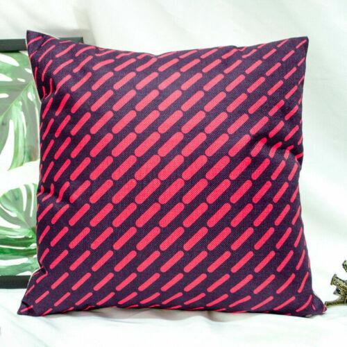 Wave Pattern Cotton Linen Pillow Case Sofa Waist Cushion Cover Home Decoration