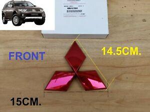 CHROME BACK TAILGATE Rear Logo Mitsubishi L200 Triton Emblem DECAL GENUINE PARTS