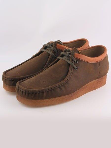 Clarks Original X Wallabees Fettleder braun Schuhe UK 11 12 US G