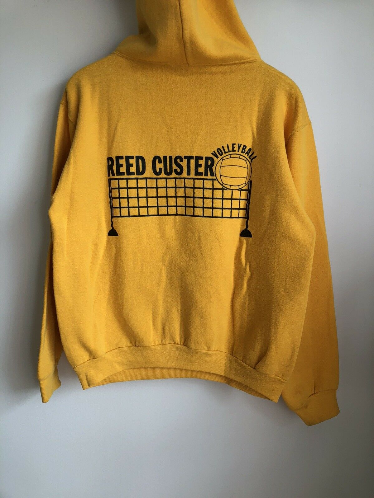 VTG 70s Russell Athletic Gold Yellow Hoodie Sweat… - image 5