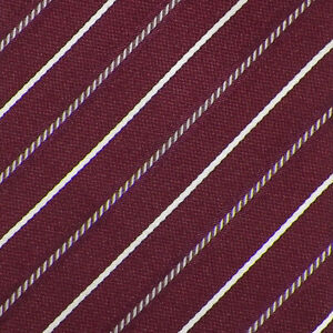 ARMANI-COLLEZIONI-Mens-Maroon-Gray-White-STRIPE-Woven-Silk-Tie-Italy-EUC
