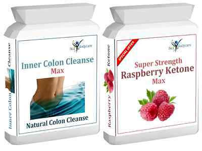 60 Raspberry Ketone Plus 60 Colon Cleanse  Weight Loss Slimming Diet Pills