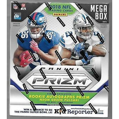 2018 PANINI PRIZM FOOTBALL FACTORY SEALED MEGA BOX - 1 RC AUTO NEON GREEN PULSAR