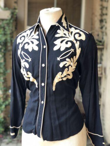 Vintage 1950s Women's Cotton Western Shirt