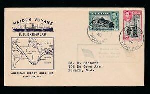 CEYLON-SHIP-SS-EXEMPLAR-WW2-MAIDEN-VOYAGE-1940-AMERICAN-EXPORT-LINES