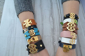 Image Is Loading New Authentic Tory Burch Leather Wrap Bracelet