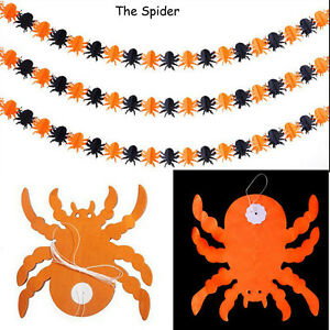 Halloween-Props-Garland-Pumpkin-Spider-Hanging-Ghost-Paper-Party-Decor-Scary