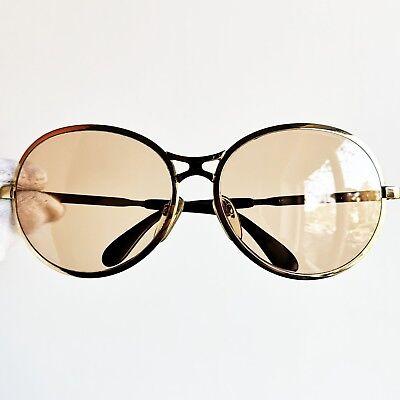 Diligente Occhiali Da Sole Rodenstock Round Gold Vintage Sunglasses Oversize Rare Wrap Reputazione In Primo Luogo