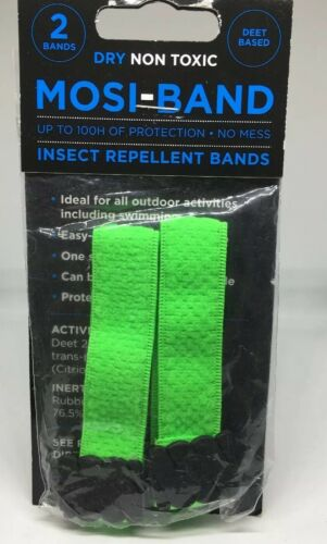 INSECT REPELLENT WRIST BANDS 4 Pk Mosquito BANDS HOLIDAY TRAVEL SPORTS 8