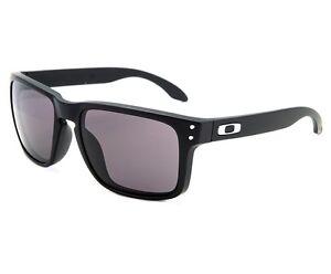 Oakley Sunglasses HOLBROOK 9102-01 MATTE BLACK   WARM GREY Square ... 390c95b184