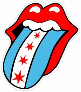 Image Is Loading Rolling Stones Chicago Flag Fan Sticker Decal Vinyl