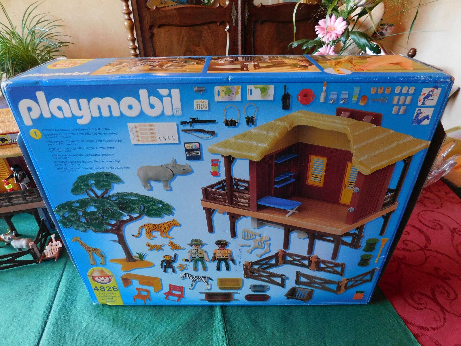 Playmobil OVP Wildtierpflegestation Oambati 4826-A/2009 mit Orig.-BA und OVP Playmobil 9a0854