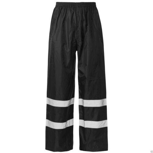 Hi Vis Viz Visibility Work Wear Safety Over Trousers Waterproof Pants !!BARGAIN!