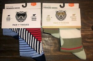 2-Twinsies-Sock-Set-NEW-Pair-of-Thieves-Dad-amp-Kid-Men-Sz-8-12-amp-Kid-S-18m-3-yr