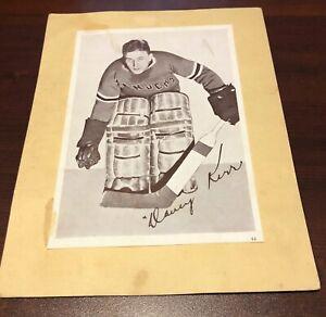 1935 -1940 Crown Brand Syrup Hockey Dave Kerr #64 New York Rangers