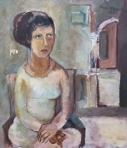 Angelo-Maiorana-Italian-Artist-Portrait-Frau-1963-Berlin-Expressiv-75-x-65-cm
