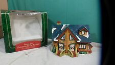 "Santa's Best Collectable Christmas Village  House 9.5"" x8"""