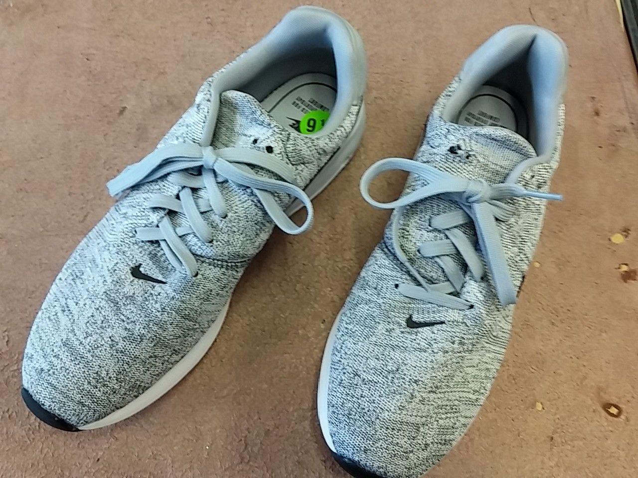 Nike air max moderne laufschuhe flyknit mens laufschuhe moderne 9.5wolf grau 876066 001 frei schiff 944235