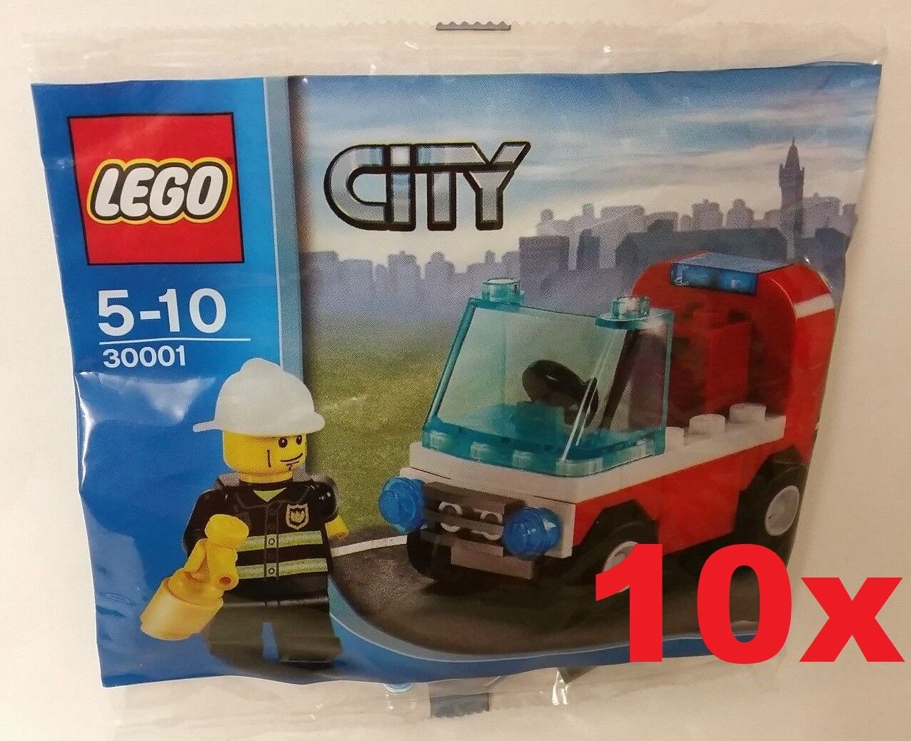 Lego 10 x x x City 30001 Polybag - Firefighter with Car - New Sealed b30b73