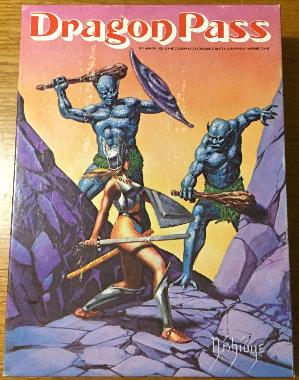 Dragon Pass - Avalon Hill  1988 - COME NUOVO - UNPUNCHED  clienti prima reputazione prima