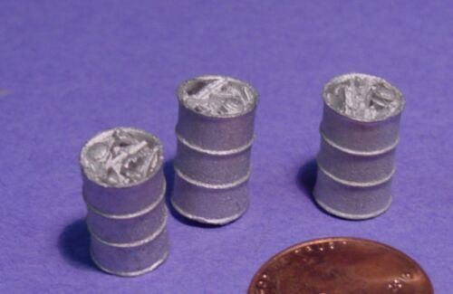 O SCALE On3//On30 WISEMAN MODEL SERVICES DETAIL PARTS #O295 SMALL TRASH BARRELS