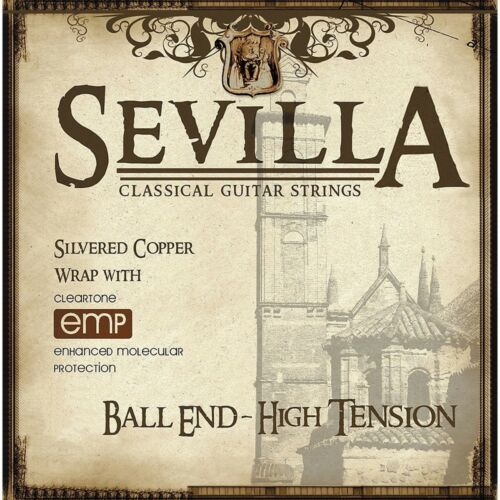 Sevilla 8452 Classical Acoustic Guitar Strings High Tension Ball Ends Cleartone