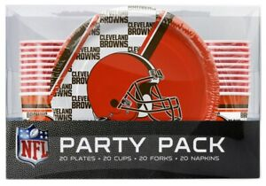 NFL-Cleveland-Browns-Disposable-80-Piece-Party-Pack-Plates-Cups-Forks-Napkins