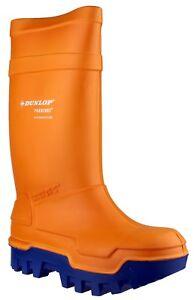 Dunlop-Purofort-TERMO-Total-Seguridad-Naranja-Meter-Botas-para-la-lluvia