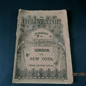June 1888 Delineator Fashion Magazine, Butterick Publishing Co.