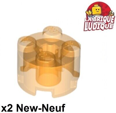 6x LEGO brique 2 x 2 rond en jaune pièce nº 3941